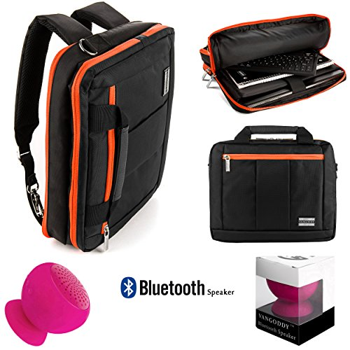 Aluminum Powerbook (Executive Travel Carrying Bag, Messenger Bag & Backpack For 11 to 13.9