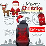 Big Ant Heated Seat Cushion, 12V Sleek Design Nonslip Car Heat Seat Cushions Cover Pad Winter Warmer - Universal Fit for Auto Supplies Home Office Chair(Black)
