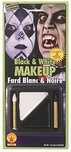 Rubie's Costume Co Black & White Makeup Kit - Black And White Costume