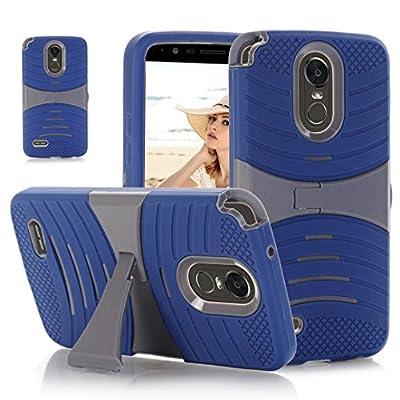 LLguz Light Weight Horizontal Bracket Phone Rubber Protection Case Hybrid Cover Case For LG Stylo 3 by LLguz