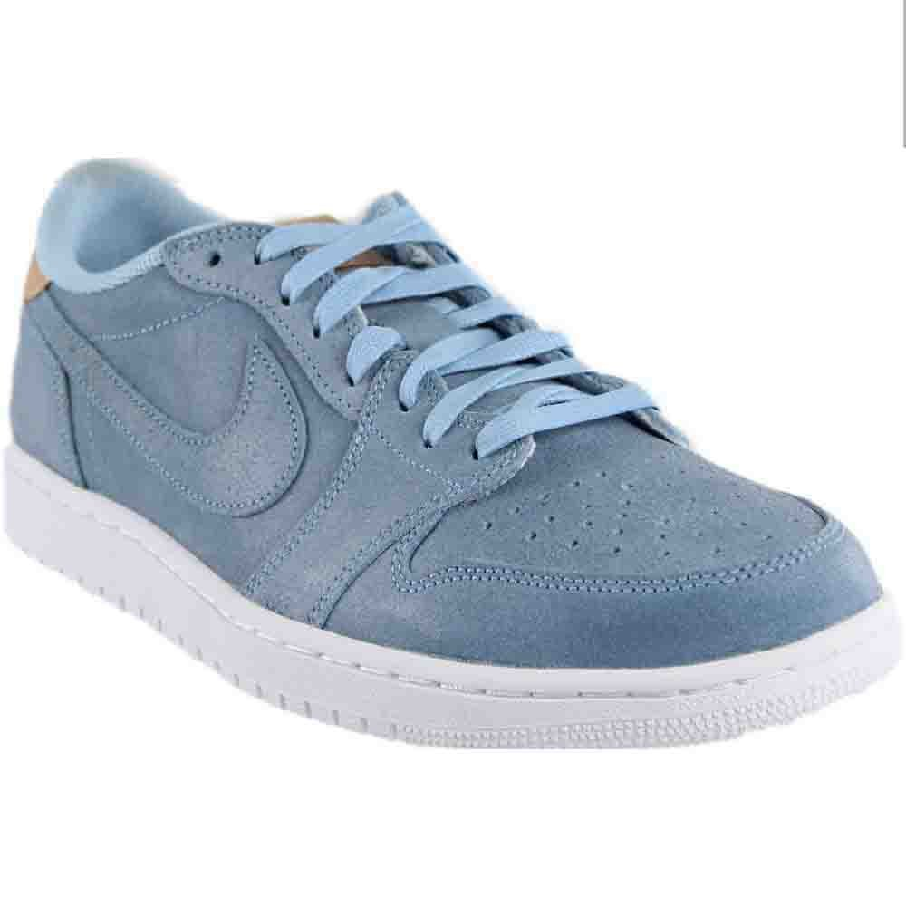 on sale bc301 be403 Nike Jordan Men Air Jordan 1 Retro Low OG Premium ice Blue Vachetta  tan-White Size 9. 5 US  Buy Online at Low Prices in India - Amazon.in
