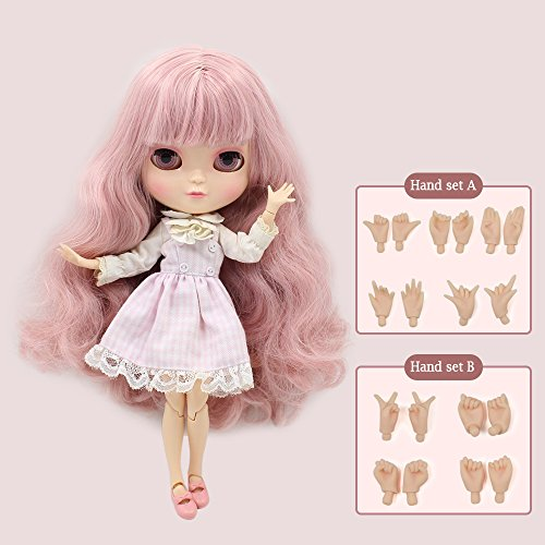 - The 12 inch high Fortune Days ICY Nude Doll is The Same as Blythe Doll,can Change The faceplate and Clothes for DIY Maker,19 Joint Body Doll is Suitable for Girls Present and Best Gift. (Pink)