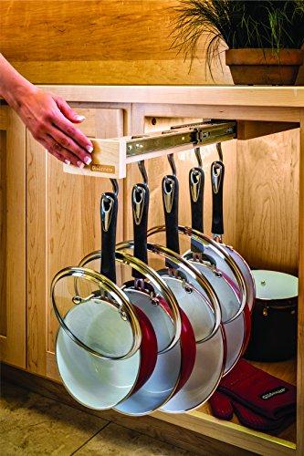 Dual-ing Glideware Cookware Organizer with 14 Hooks by Glideware, LLC by Glideware (Image #3)