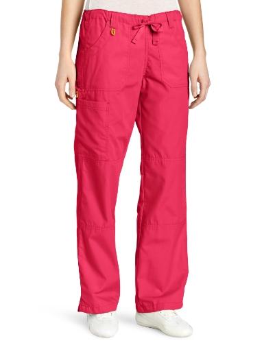 WonderWink Women's Scrubs Cargo Pant, Hot Pink, Small/Tall