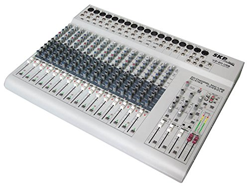 - SKP Pro Audio VZ-20 USB Mixing Console. 16 Mono Channels - 4 Stereo Inputs Channels with 4 Band EQ