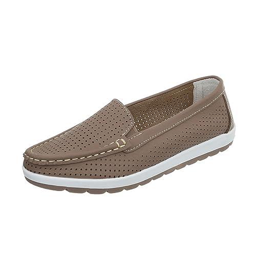 Ital-Design Zapatos Para Mujer Mocasines Plano Mocasines: Amazon.es: Zapatos y complementos