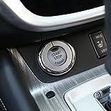 etopmia Car Ignition Switch Decoration Key Ring Sticker Key Cover fit Nissan New Qashqai Murano X Trail X-trail Teana 2015 2016(Silver)