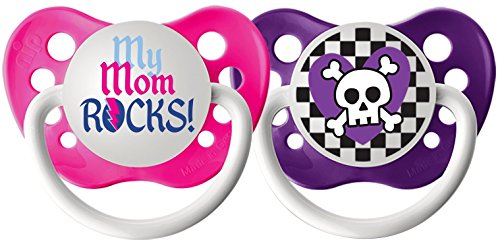 Ulubulu Expression Pacifier Purple Checker