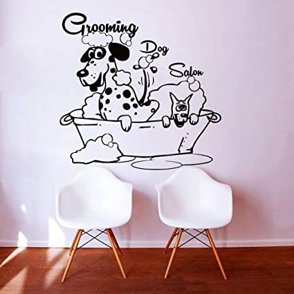 Wall Decals Dog Grooming Salon Decal Vinyl Sticker Pet Shop Scissors Home  Decor Interior Design Art