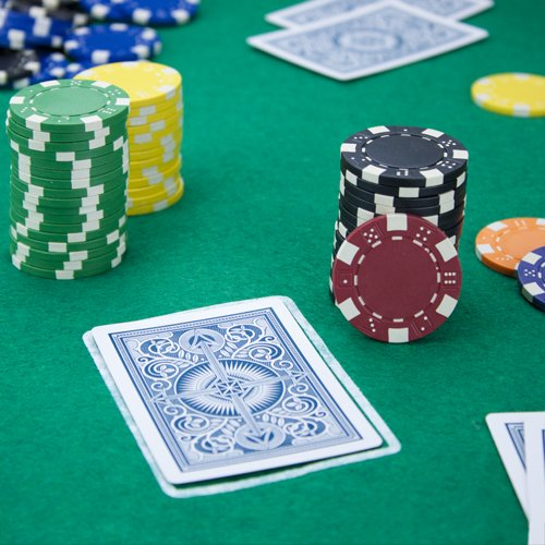 Z striped clay poker chips