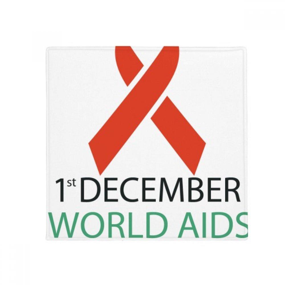 DIYthinker 1St December Aids Day HIV Solidarity Anti-Slip Floor Pet Mat Square Home Kitchen Door 80Cm Gift