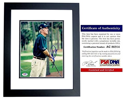 - Curtis Strange Autographed Golf 8x10 Photo Black Custom Frame - PSA/DNA Authentic