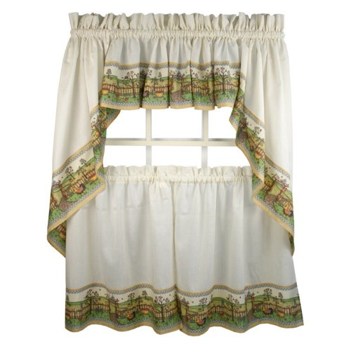 Orchard - 24'' tier (pr) Kitchen Curtain