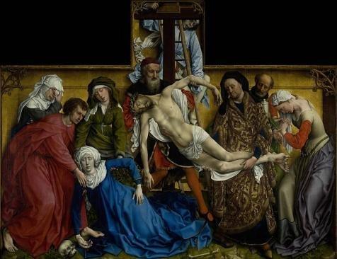 Oil Painting 'Rogier Van Der Weyden-The Descent From The Cro