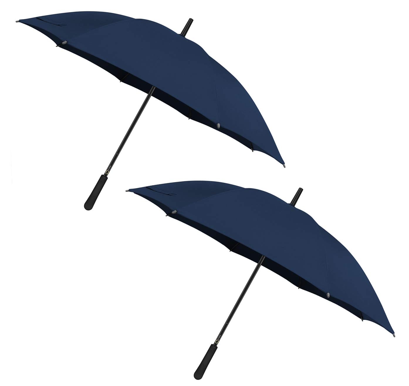 43 In Long Stick Umbrella for Men and Women,Automatic Open, Double Strong Umbrella Bone for Outdoor Use-Purplish Blue(2 Pack) by TOPULORS