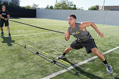 SKLZ Recoil 360 Dynamic Resistance and Assistance Trainer. Multi-Sport, Solo or Partner Belt with Bungee