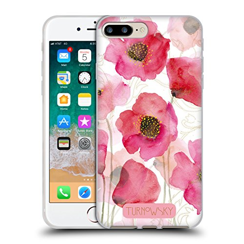 Official Turnowsky Watercolour Poppies Essence of Blossom 2 Soft Gel Case for iPhone 7 Plus/iPhone 8 Plus ()