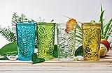 Global Amici 20 oz Home Tiki Hiball Glasses (Set of 4), Clear