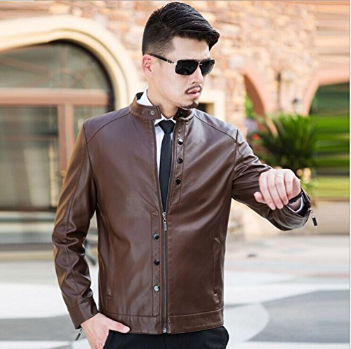 Love Dress Mens Leather Jacket Biker Jacket XXL by Love To Dress (Image #1)