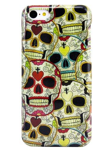 Apple iPhone 5C Hard Case Têtes de Morts Skulls Étui de protection design Coque Cover thematys®