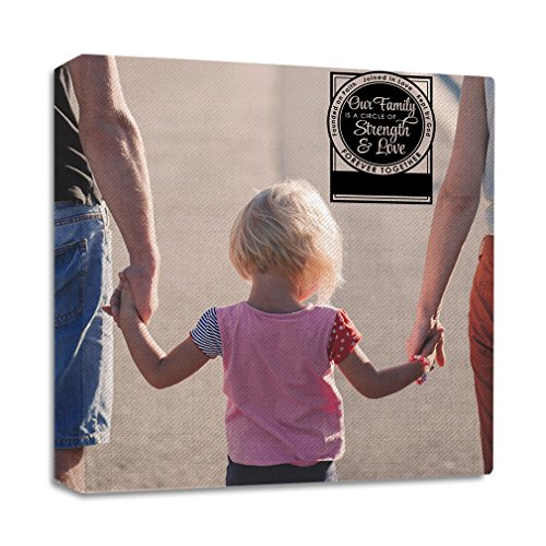 Our Family Is A Circle Of & Love Forever Together Founded On Faith Jointed In Love Kept By God Streched Canvas Wrap Frame - Full Border, 28''x28'' by Style in Print