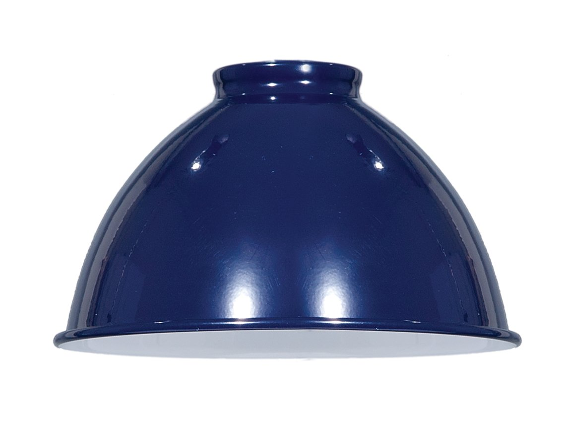 B&P Lamp Industrial Style Metal Dome Shades (Blue)