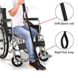 Convelife Leg Lifter Strap - Rigid Foot Loop & Hand Grip for Adult, Senior, Elderly, Handicap, Disability & Pediatrics - Long Band Mobility Aid for Car, Bed, Couch, Hip Replacement & Wheelchair (36'')