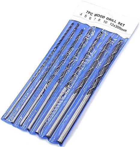 Moligh doll 7pc X Lang Holzbohrer Set 4mm 5mm 6mm 7mm 8mm 10mm 12mm x 300mm Brad Point