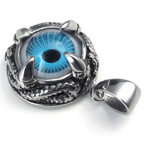 KONOV Stainless Dragon Pendant Necklace