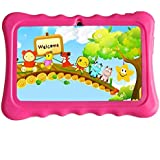 Fiudx New Kids Tablet PC 7 Android 4.4 Case Bundle Dual Camera 1.2Ghz Wi-Fi Bonus Items