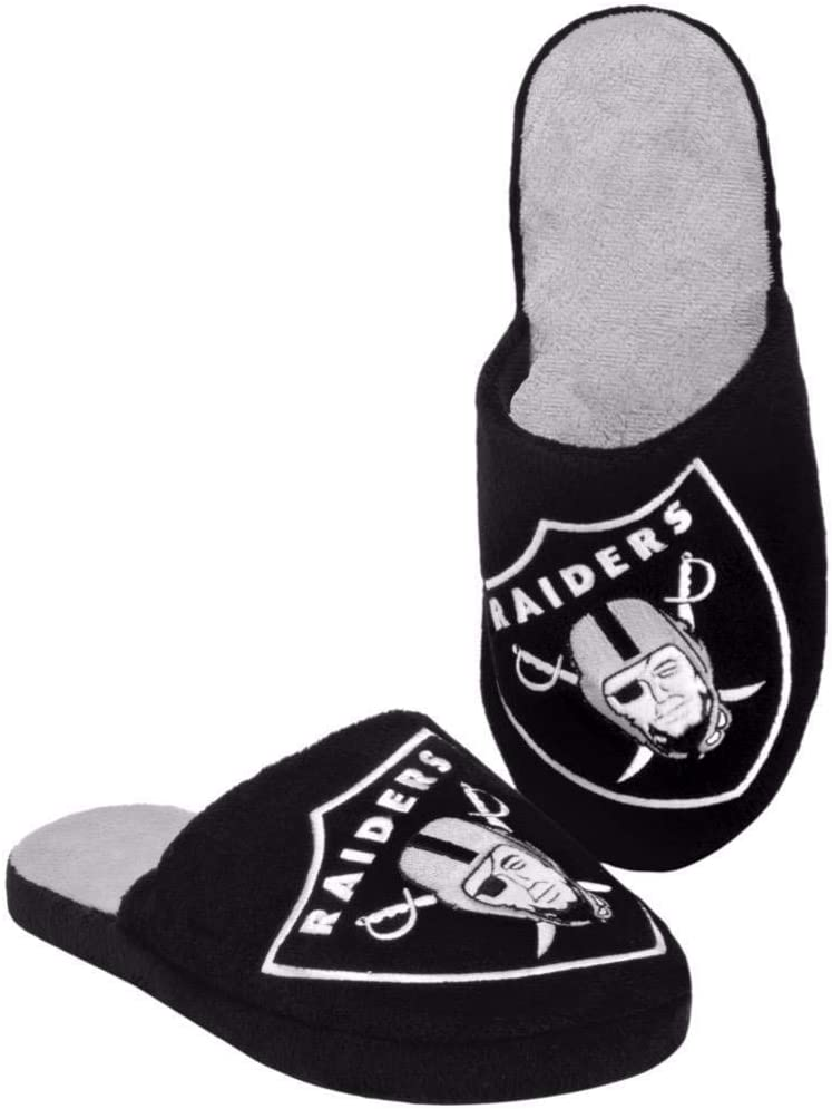 Forever Collectibles NFL Oakland Raiders Mens Slip On Slippers