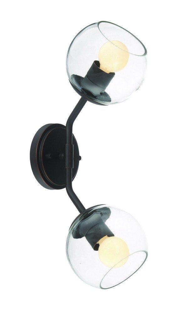 Designers Fountain 91202-SB Meridian 2 Light Wall Sconce