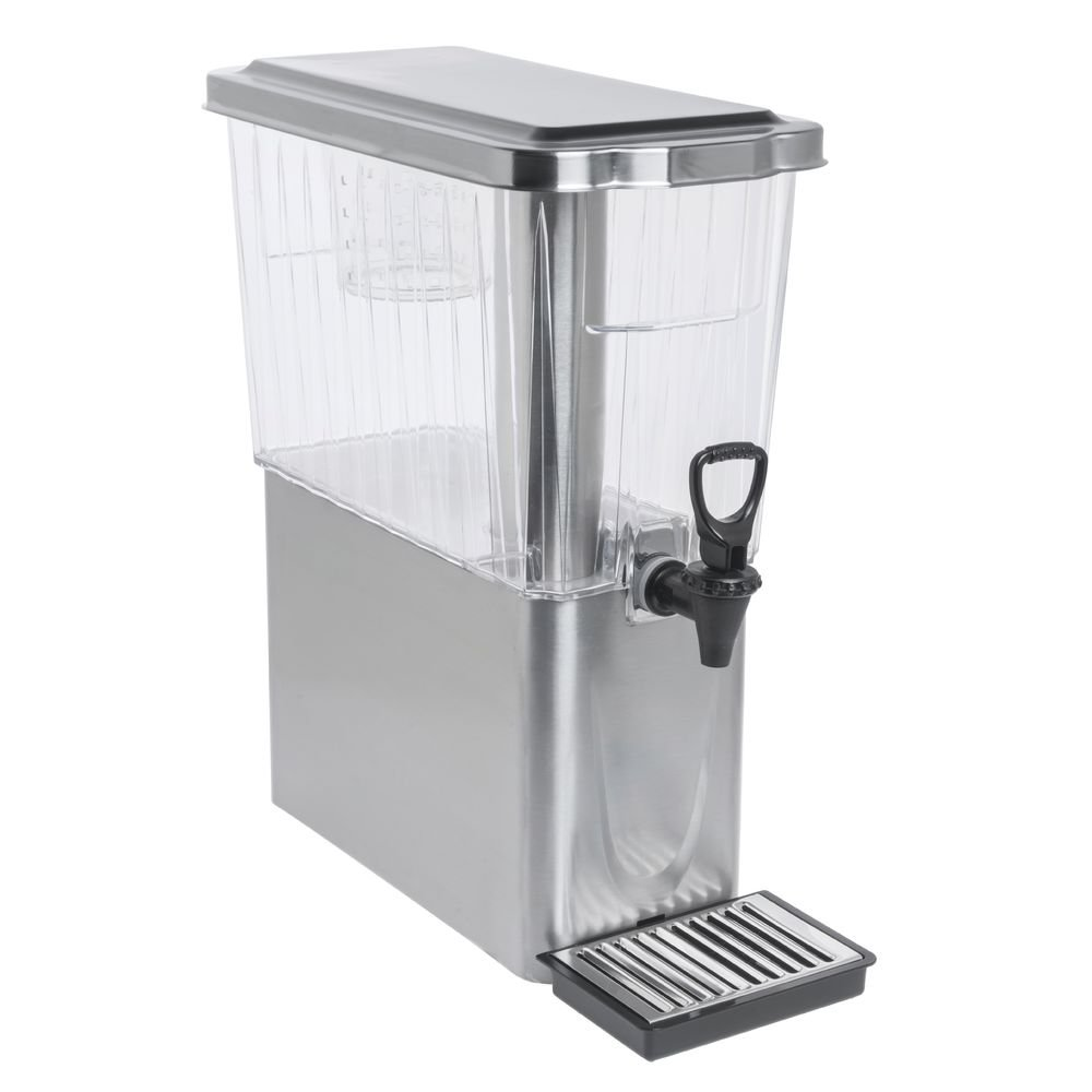 Service Ideas CBDT3SSD Diamond Cold Beverage Dispenser, 3 Gallon, Brushed Stainless/Clear Tritan Plastic, Silver