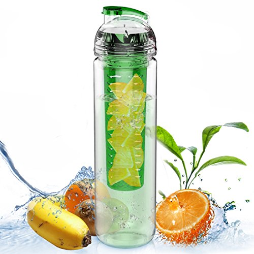 AVOIN colorlife 27oz. Sport Tritan Fruit Infuser Water Bottle(Many Color Option) - BPA Free (Water Filter For Office compare prices)