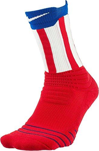 Nike Elite Versatility July 4 Crew Socks(Red/Royal/White, S)