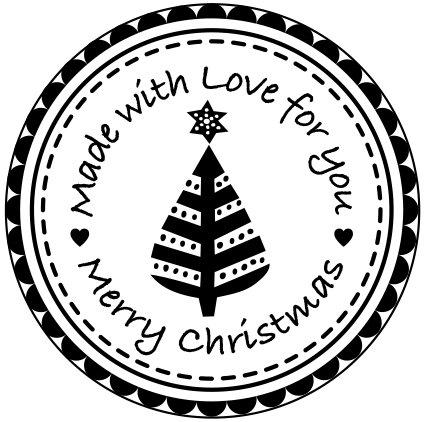 Rico Design Timbro illuminato albero di Natale, natura 7038.35.39