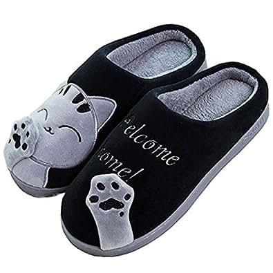 Amazon.com | SITAILE Women Men Plush Cute House Slippers