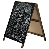MyGift 32-Inch A-Frame Chalkboard Store & Cafe Sidewalk Sign