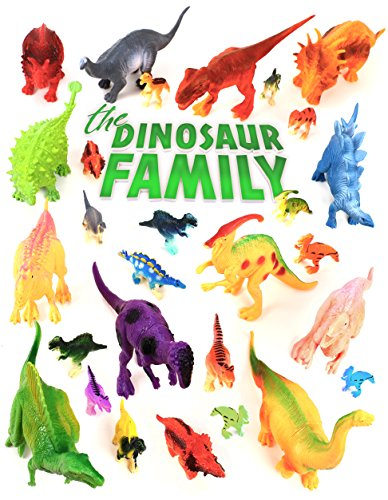Dinosaur Toys - Educational Set Of 24 Large & Mini Plastic Realistic Figures & Playset - T-rex Spinosaurus Triceratops &more - Fun Game Kids Boys & Girls Age 3 + Years Old For Party Birthday Supplies