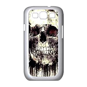 LEMON Floral Skulls Unique Cool Painting Phone Case For Samsung Galaxy S3 I9300 [Pattern-1]
