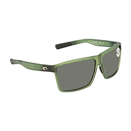 7d5b4d9adbe Image Unavailable. Image not available for. Color  Costa Del Mar Costa Del  Mar RIN182OGGLP Rincon Gray 580G Matte Palm Green Frame ...