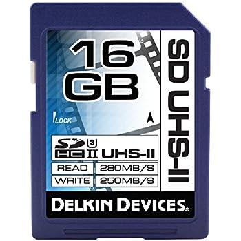 Delkin 16GB SDHC UHS-II (U3) Memory Card (DDSDUHS216GB)
