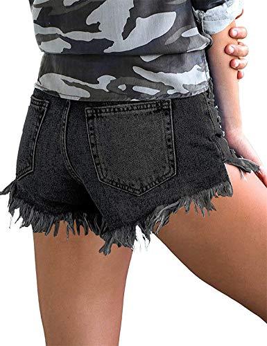 Mid-Waist Denim Short Pant