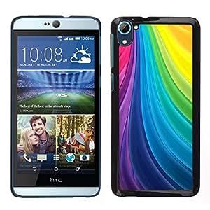 Caucho caso de Shell duro de la cubierta de accesorios de protección BY RAYDREAMMM - HTC Desire D826 - líneas de seda del vórtice del arco iris paleta gay