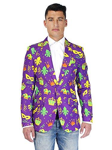 Suitmeister Purple Mardi Gras Long Sleeved Jacket With