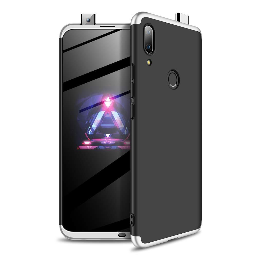 Plate/&Negro sigua Funda Compatible para Huawei P Smart Z 2019 Carcasa Caja Material de PC a Prueba de Golpes Caja Ultra-Delgado Anti-Golpes Caso,con Caja de Regalo 2X Vidrio Templado