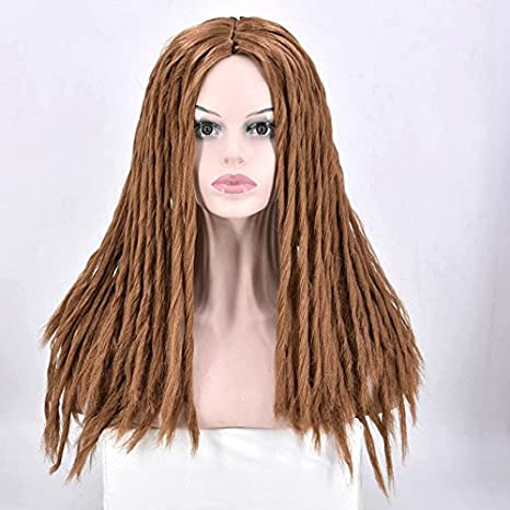 Full dreadlocks Femme noire Perruque de cheveux