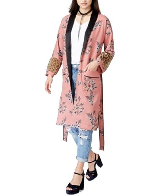 Amazon.com: Chaqueta Kimono sin fin con diseño de rosas, L ...