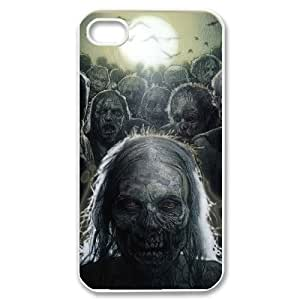 C-EUR Customized Print The Walking Dead Pattern Back Case for iPhone 4/4S