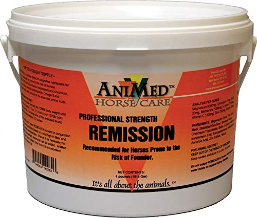 AniMed REMISSION FOUNDER TREATMENT FOR HORSES, 4 Pound (Best Supplement For Foundered Horse)